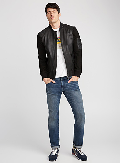 Jixx leather bomber jacket