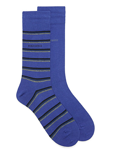 Solid and striped sock 2-pack