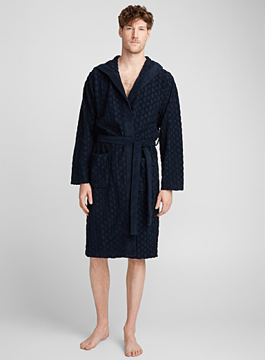 Multiplied terry logo robe