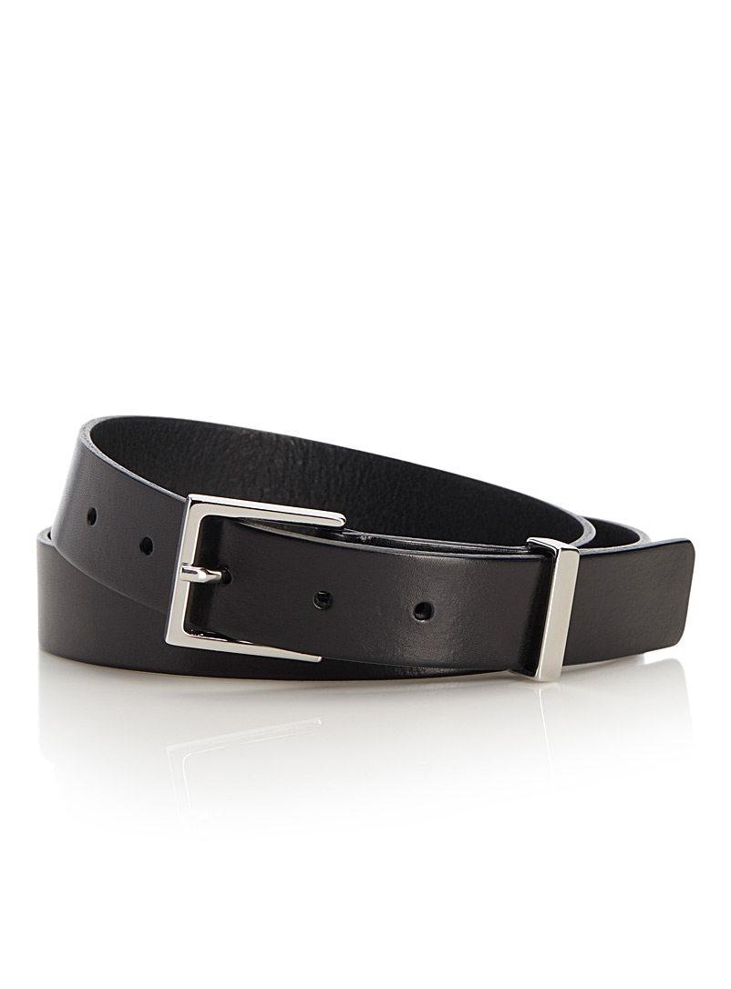 Minimalist square buckle belt - Dressy - Black