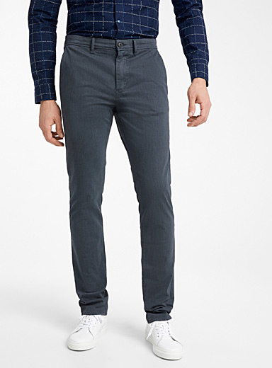BOSS Blue Brushed-twill pant  Slim fit for men