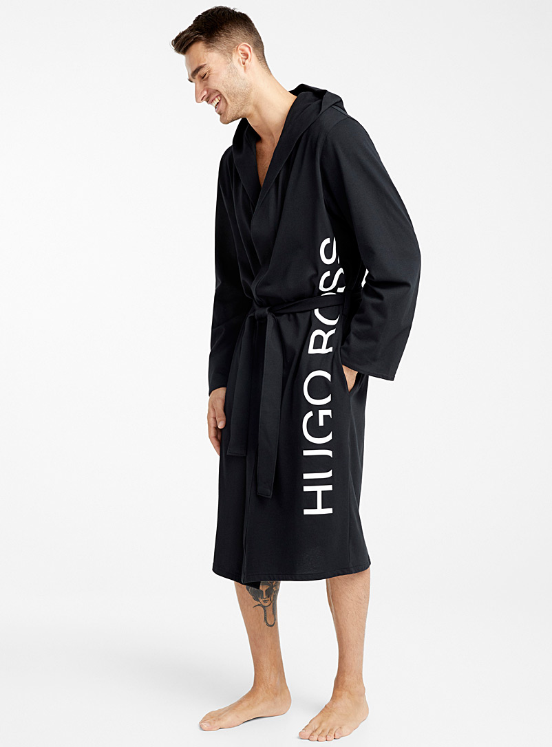 BOSS Black Signature jersey robe for men