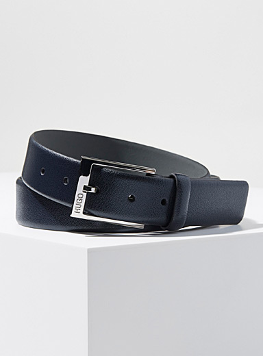 HUGO Marine Blue Gellot belt for men