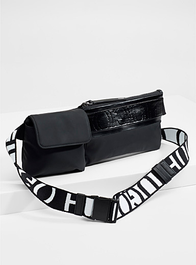 Matte reverse logo belt bag