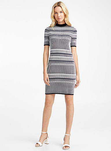 Sawery optical knit dress