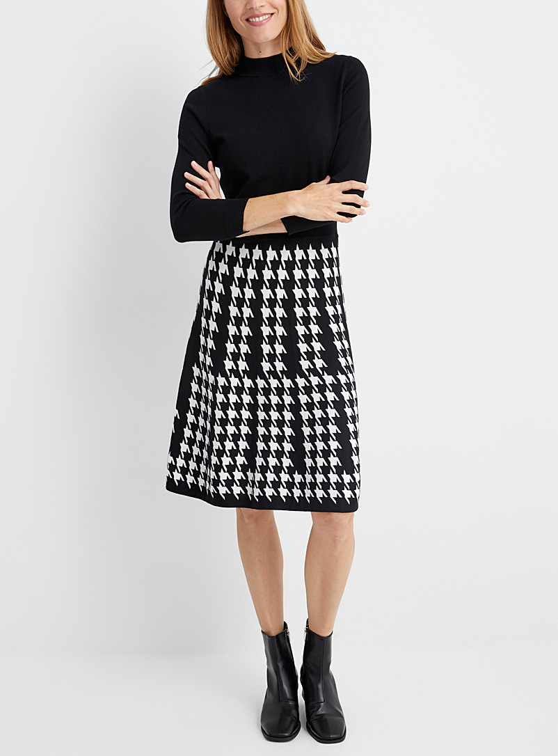 Sieny houndstooth knit dress