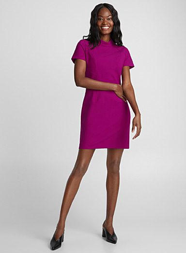 Magenta structured dress