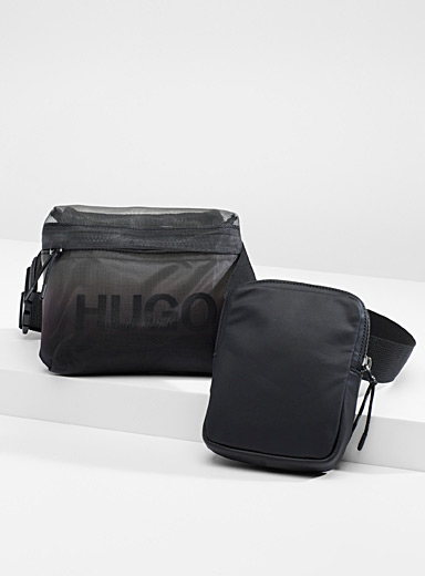 Double pocket belt bag
