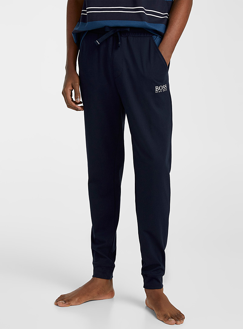 BOSS Marine Blue Navy lounge joggers for men