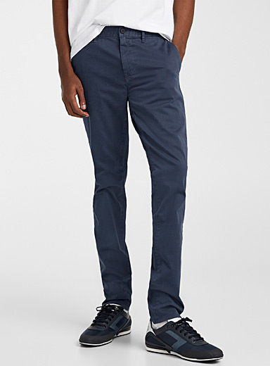 BOSS Marine Blue Schino-Modern pant for men