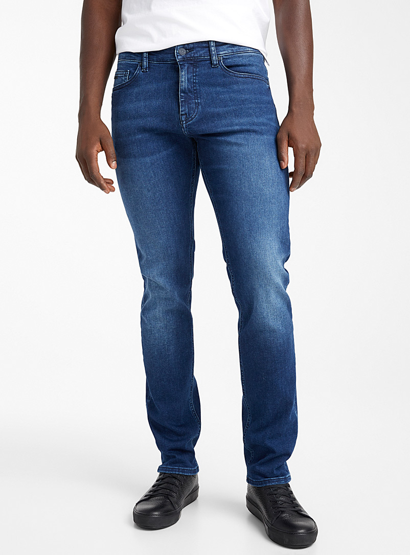 BOSS Blue Indigo Delaware jean for men