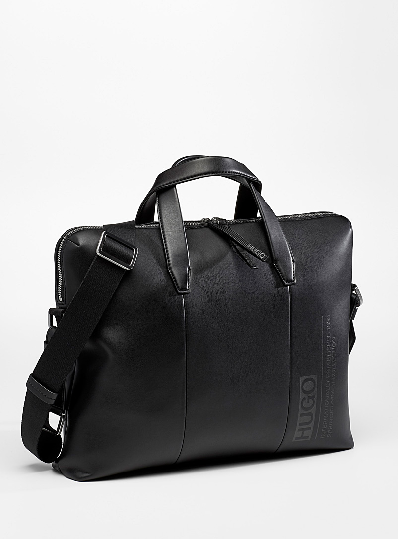 HUGO Black Tycoon briefcase for men