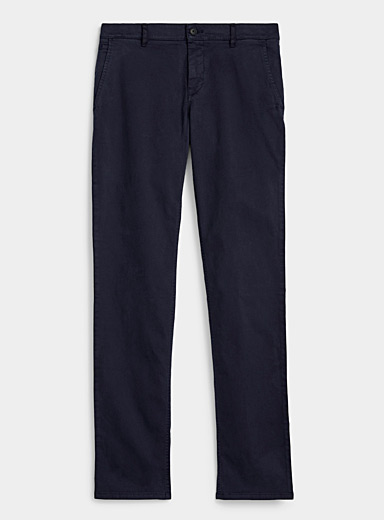 BOSS: Le chino extensible Boss  Coupe droite Marine pour homme