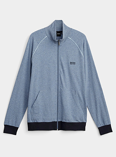 Le cardigan zip détente lagon bleu