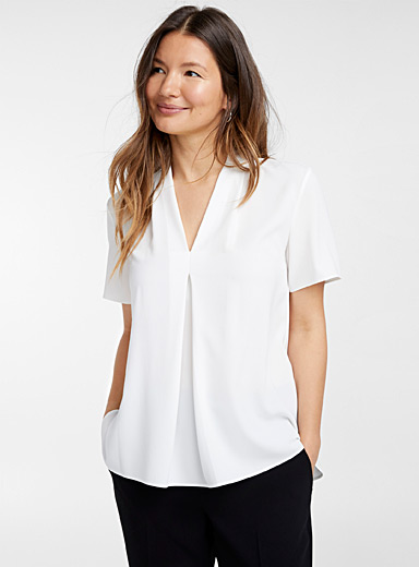 Camoni draped V-neck blouse