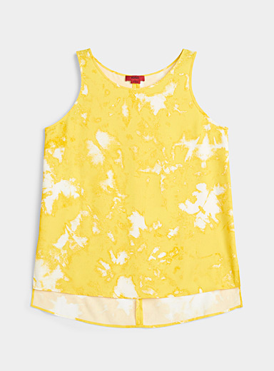 HUGO Patterned Yellow Cisona yellow fluid camisole for women