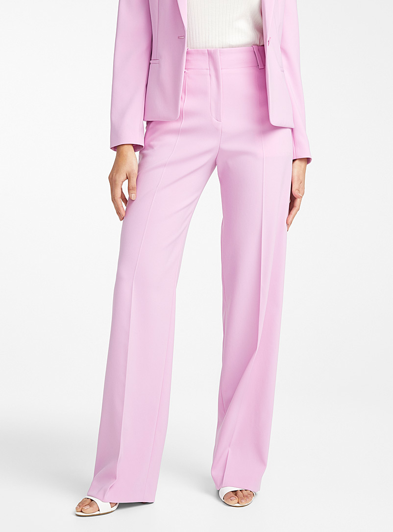 HUGO Lilacs Hulana orchid wide-leg pant for women