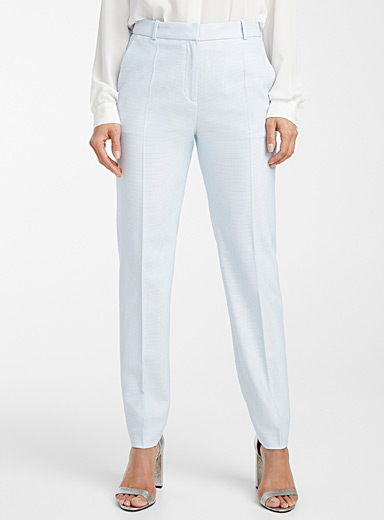 HUGO Baby Blue Hirela pastel weave pant for women