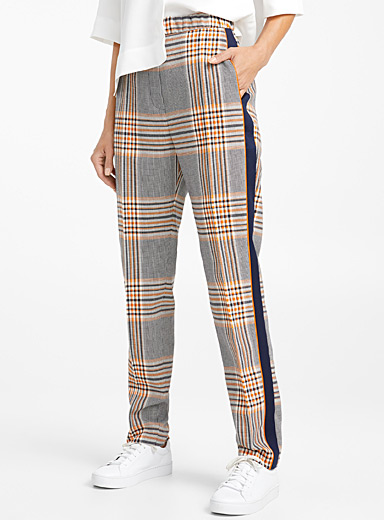 Herani orange check pant