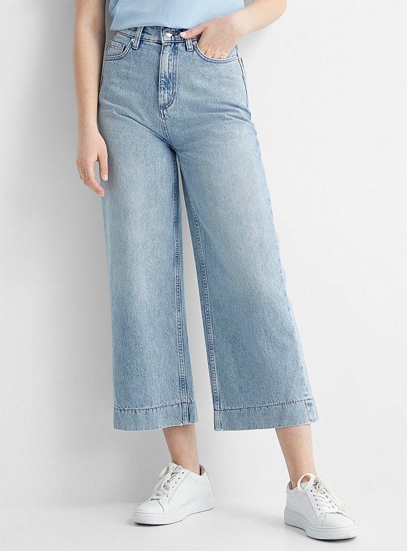 HUGO Blue Ganini cropped wide-leg jean for women