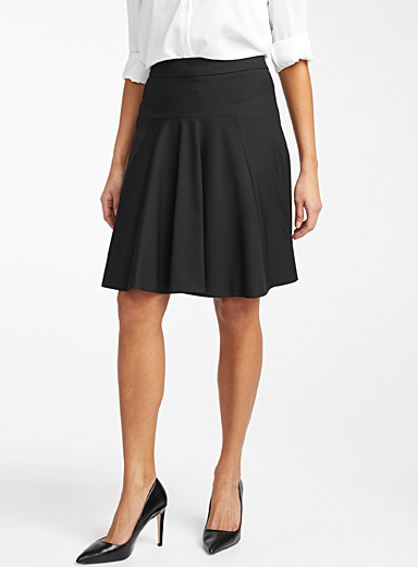 HUGO Black Risella A-line suit skirt for women