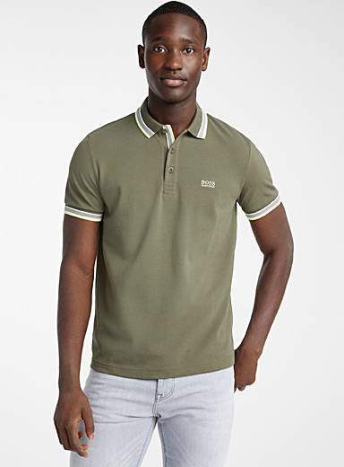 BOSS Mossy Green Paddy polo for men