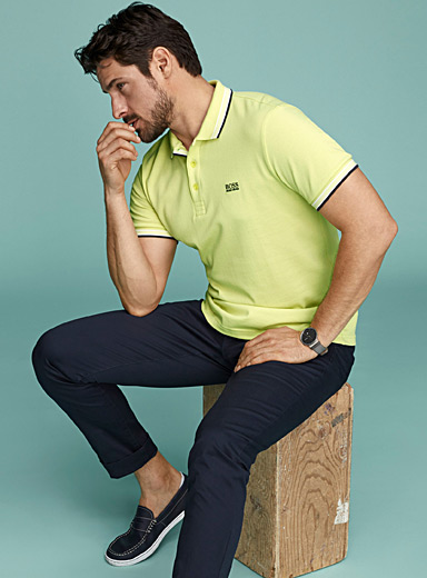 BOSS Light Yellow Paddy polo for men