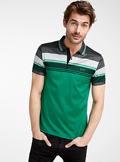 BOSS Green Techno block jersey polo for men