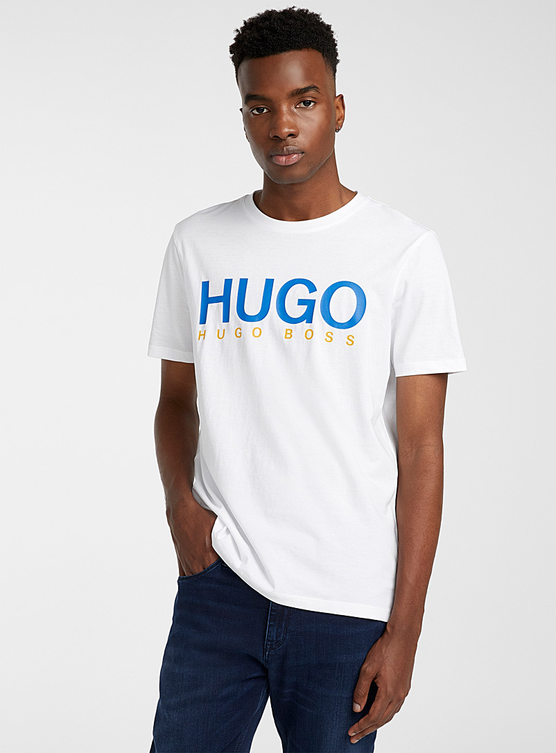 HUGO White Dolive T-shirt for men