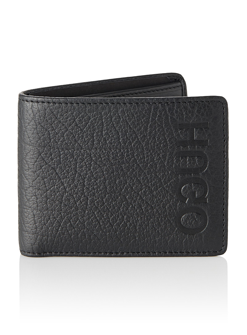 Reversed logo leather wallet - Wallets - Black