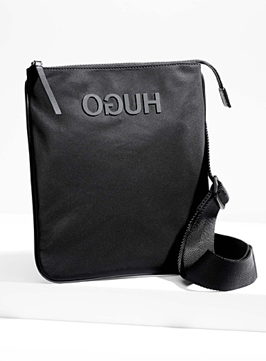 Reversed-logo shoulder bag