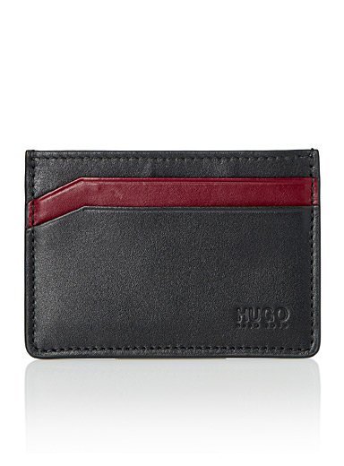 Bismarck red accent card holder