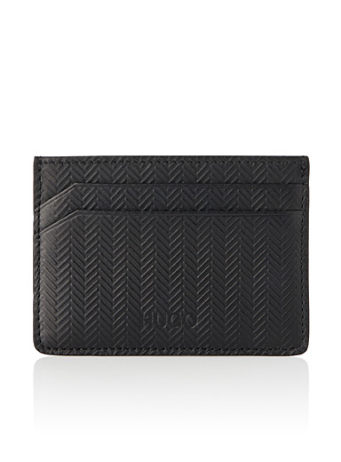 Chevron card holder