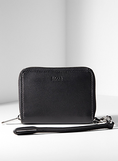 BOSS Black Wrist strap wallet for men