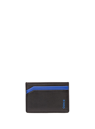 HUGO Blue Subway card holder for men