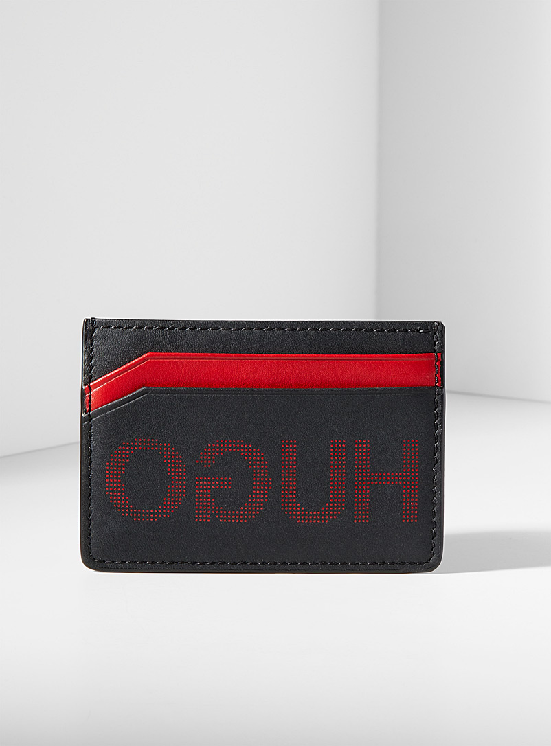 Bright red accent card holder