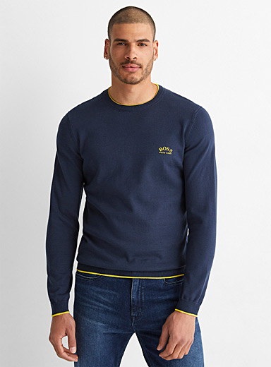 Le pull Riston liséré accent