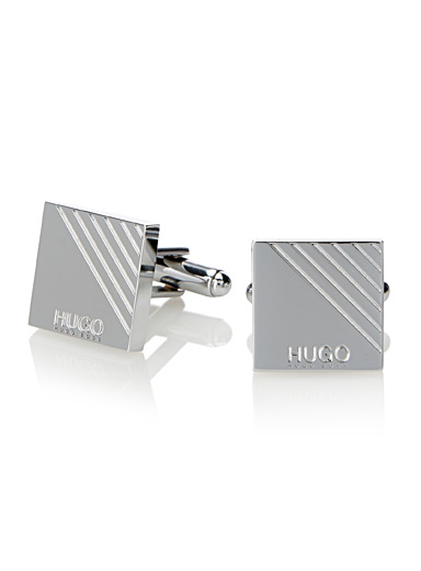 Hatched square cufflinks