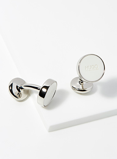 Colourful disc cufflinks