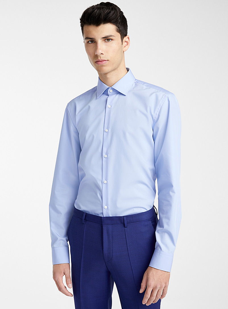 HUGO Baby Blue C-Jenno solid shirt for men