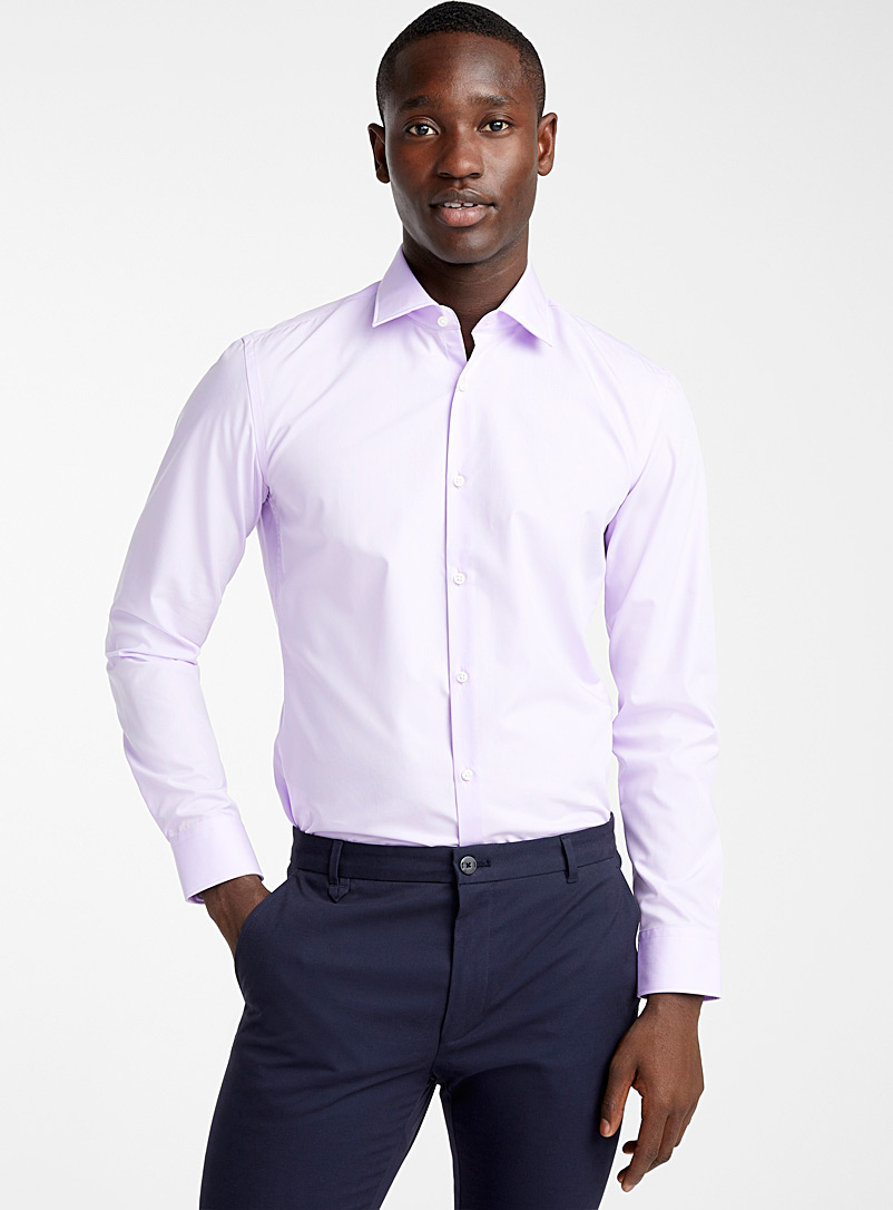 HUGO Mauve C-Jenno solid shirt for men