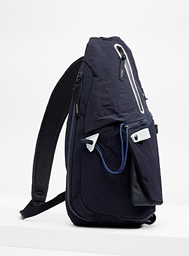Master-Piece Marine Blue Single strap backpack for men