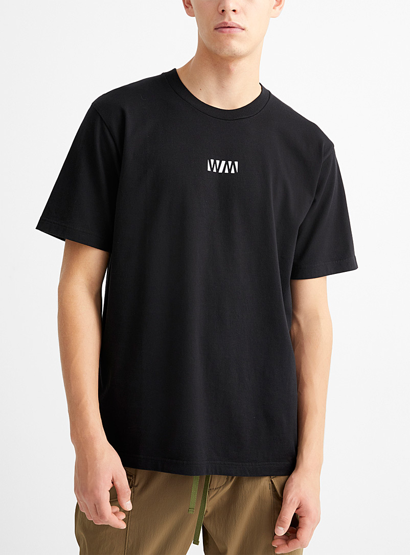White Mountaineering Black WM printed T-shirt for men