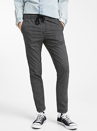 Elastic waist Prince of Wales pant