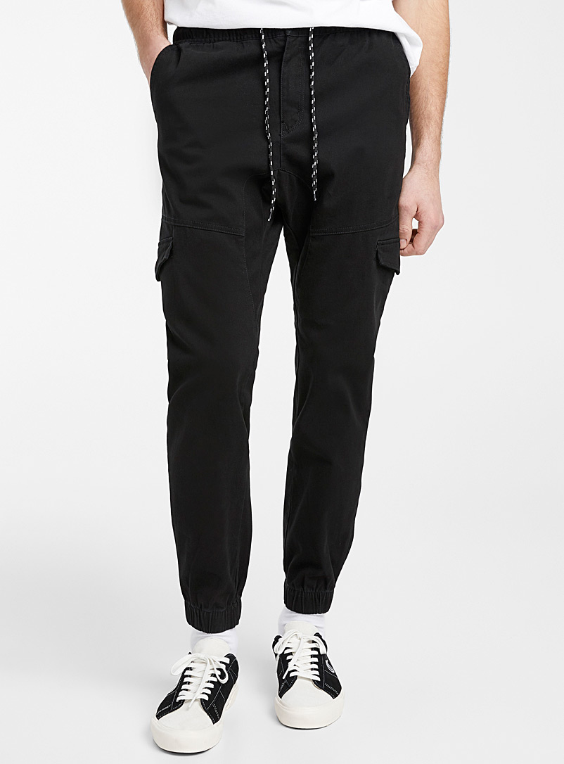 Lira Black Mouse-grey cargo joggers for men
