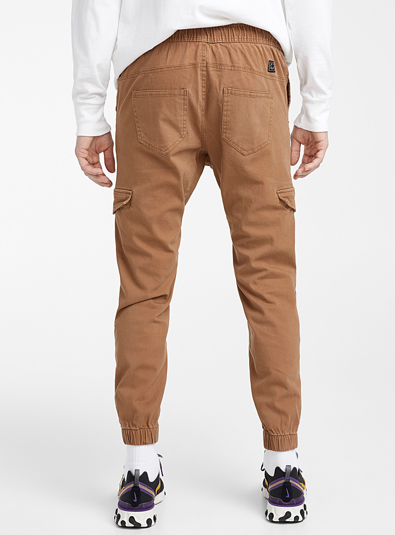 Lira Fawn Mouse-grey cargo joggers for men