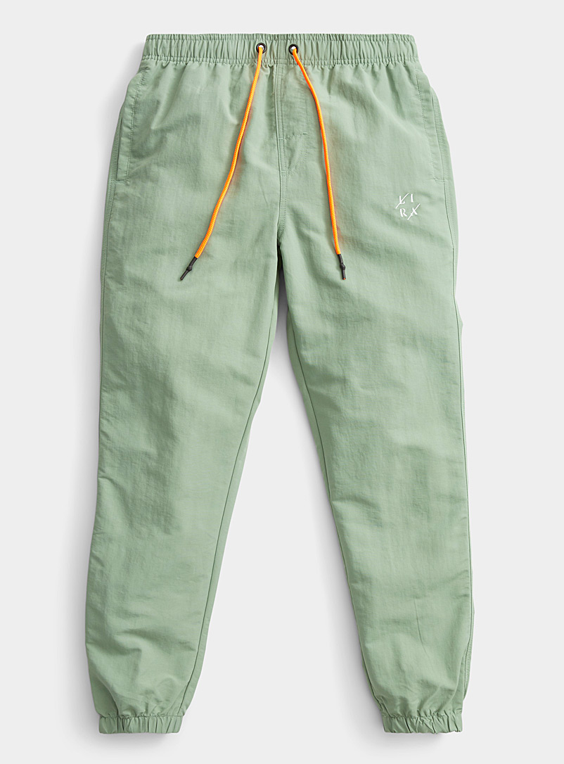 Lira Green Neon-accent technical joggers for men