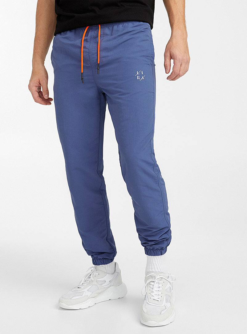 Lira Blue Neon-accent technical joggers for men