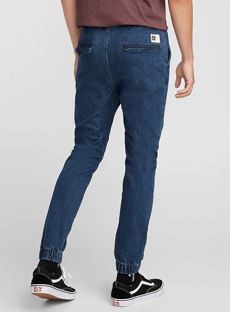 Vintage denim joggers - Slim fit - Marine Blue