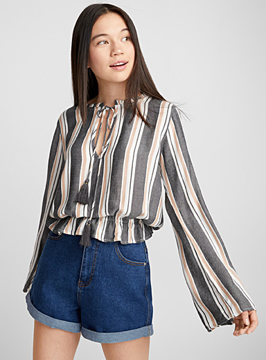 Boho stripe blouse